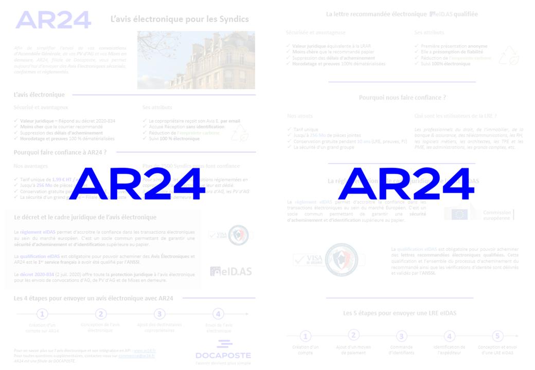 Plaquette avis électronique AR24 - Docaposte
